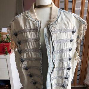 Distressed Free People Oversized Vest